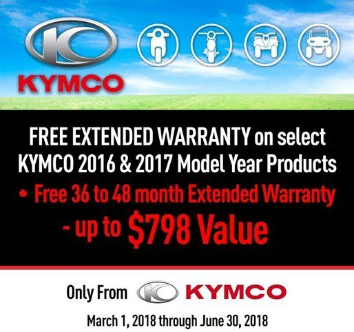 Kymco Spring Free Extended Warranty Program