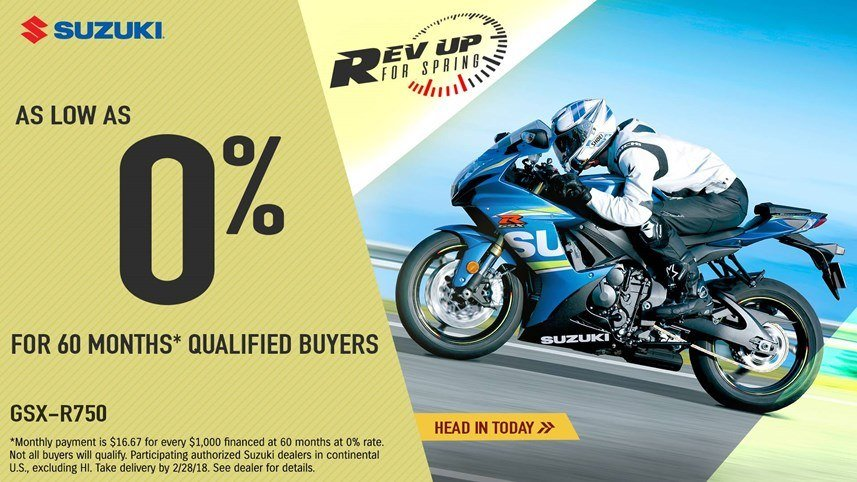 Suzuki - Rev Up for Spring for Sportbike and Standard